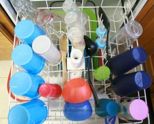Take photos of your dishwasher and laminate it. Use these visual aids to show your kids how to tidy up according to your liking.