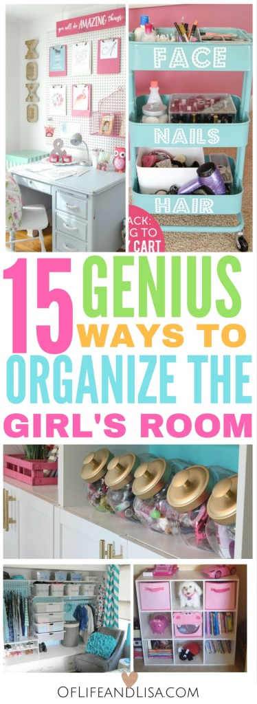 I love these budget-friendly ways to organize my girls bedroom. I love these bedroom organization ideas!