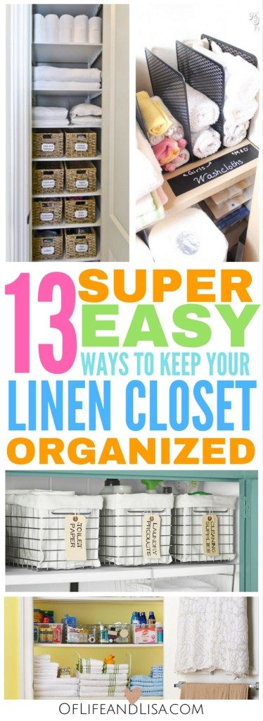 Keep your linen closet so organized with these ideas!