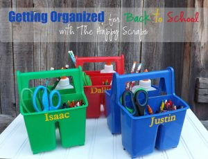 I love these diy back to school buckets to organize school supplies. Repin for later!