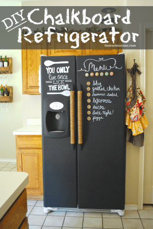Transform your fridge with chalkboard paint. Repin if you love!