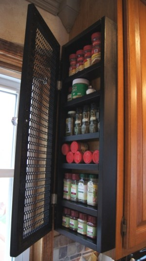 Make your own spice storage on the side of your cabinet. Repin if you think this brilliant!