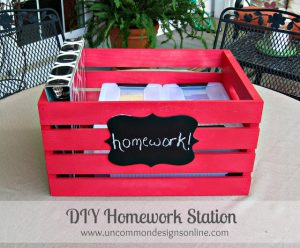 I love this diy homework station for the kiddos. Repin if you agree!