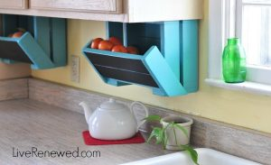 These diy under the cabinet fruit and veggies boxes are brilliant! Repin if you want this in your kitchen!