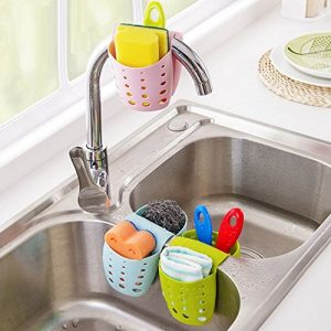 I love how organized my sink is with these caddies. Pin if you want these in your kitchen too!