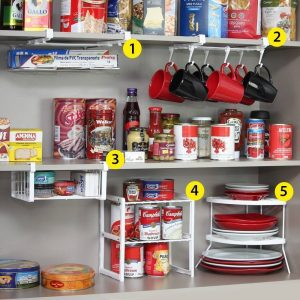 My kitchen cabinets are so organized now. I love this organizer!