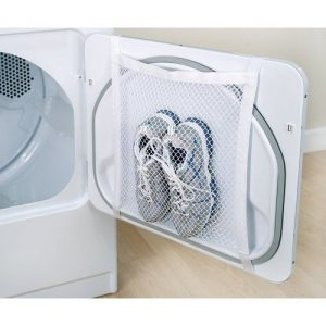 Use a mesh bag to wash and dry your shoes without them tumbling around. Repin!