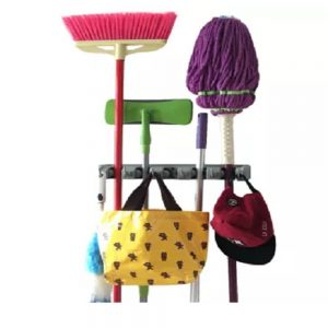 I can't wait to organize my mops and brooms with these organizers. Pin if you agree!