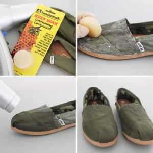 Use beeswax to waterproof your shoes. Repin!