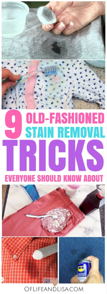 These tried and tested clothing stain removal hacks have stood the test of time and they actually work!