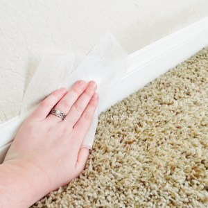 Dust your baseboards with a dryer sheet to repel dust.
