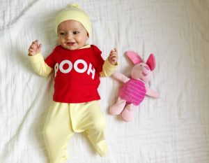 Winnie the Pooh diy halloween costume for babies. Love this!