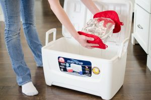 Thanksgiving Hack: Use a cooler to keep your food warm. Also it is a great way to store extra items that won't fit in the fridge.