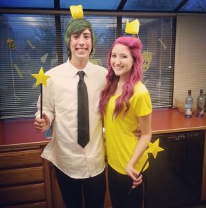 So cute! I love this Cosmo and Wanda couples costume! Repin!