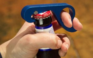 One handed bottle opener. YES! Repinning for later.