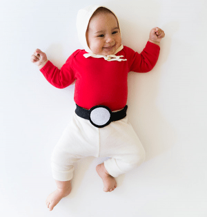 Pokeball diy baby halloween costume. Love this idea! Repin!