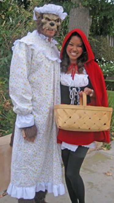 Little Redi Riding Hood and the Big Bad Wolf Halloween Costume. So repinning this!