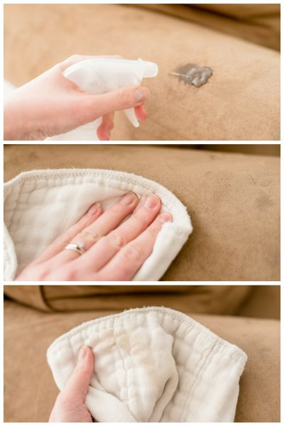 Clean stains from your microfiber couch with this simple hack.