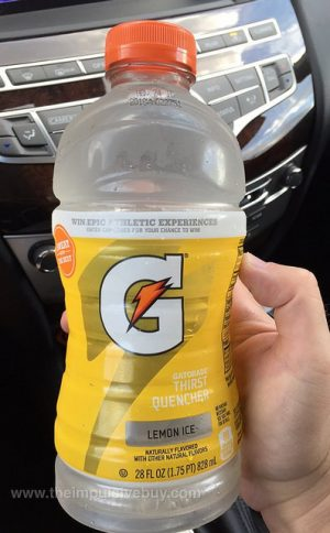 Drink a bottle of Gatorade to help relieve your headache fast.