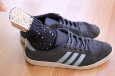 Get rid of stinky smelling shoes with this simple trick.