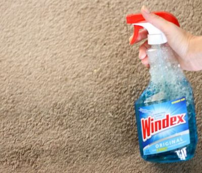 SHE USED WINDEX TO CLEAN HER CARPET STAINS NOW HER FLOORS LOOK LIKE NEW AGAIN! I WANT TO TRY THIS LATER. REPIN!