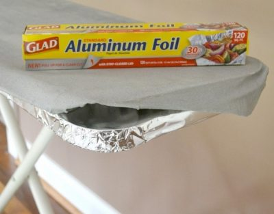 If you want to iron your clothes faster, put aluminum foil on your iron board underneath the cover.