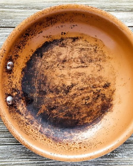 Clean burnt grease from your pots and pans with natural ingredients.