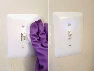 clean your light switches daily to prevent illness in the home