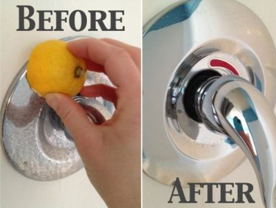 Clean water stains with half a lemon.