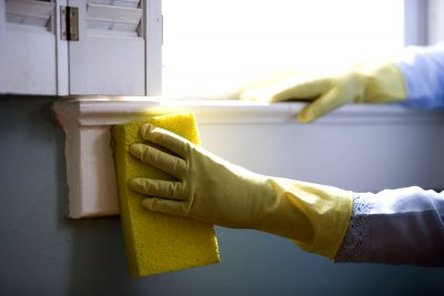Make sure you are cleaning with gloves!