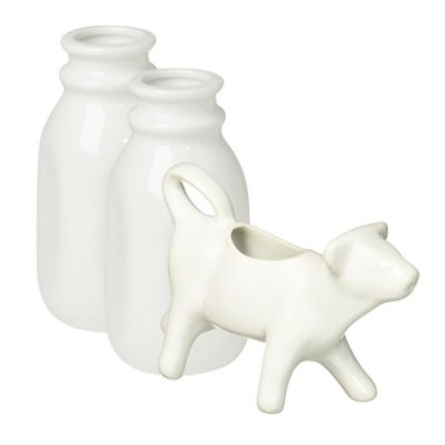 cow creamer and milk bottle decor e1521667624674 - 5 Essential Items You Need to Style a Farmhouse Tiered Tray