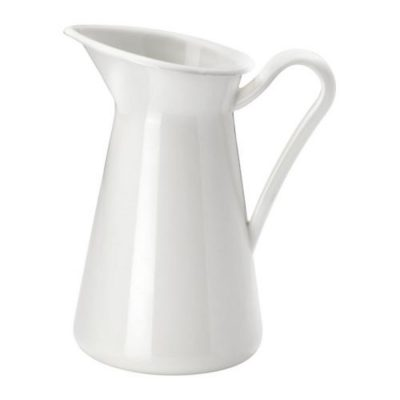 Farmhouse pitcher to store kitchen utensils and other items.
