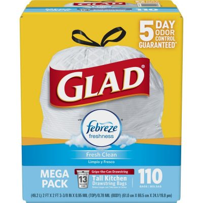 Glad Odor Shield trash bags are the BEST for minimizing odors in the kitchen.