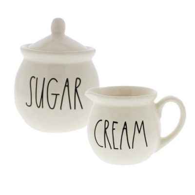 A sugar and cream set is a must-have for the perfect farmhouse vignette or tiered tray.