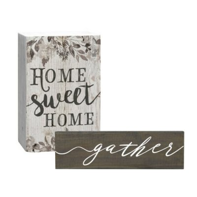 wood word plaque for vignette e1521668981460 - 5 Essential Items You Need to Style a Farmhouse Tiered Tray