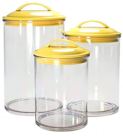 I need these yellow canisters in my kitchen. I love the color yellow!