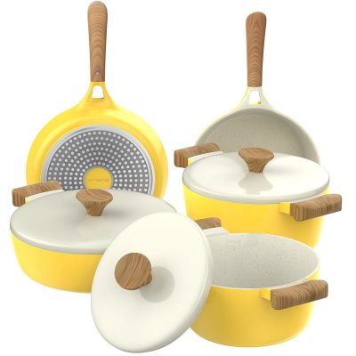 yellow vremi ceramic cookware set e1521226623691 - 10 Must-Have Yellow Accessories That'll Brighten Your Kitchen