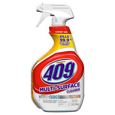 For spring cleaning, get a good all-purpose cleaner such as Formula 409. Its great for cleaning any and everything from the kitchen to the bedroom.