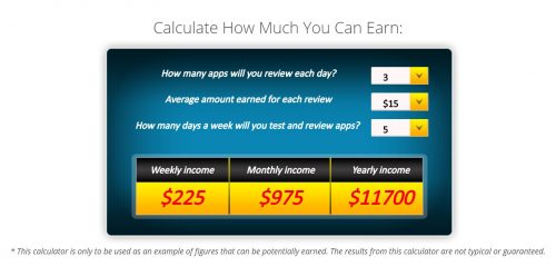 appCoiner earnings calculator e1524340005463 - How to Earn Extra Money By Testing Mobile Apps