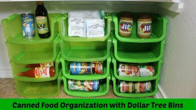 organize canned goods with dollar store bins e1517449275515 - 10 Best House Cleaning Tips for Seniors That'll Make Life Easier