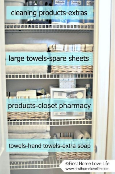 Here's how to organize your linen closet the right way.