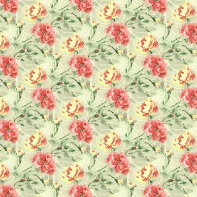 Floral wallpaper is a must for a vintage decorating!