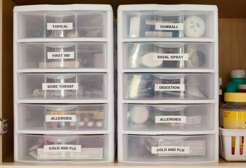 I LOVE THE WAY SHE ORGANIZED HER MEDICINE CABINET!