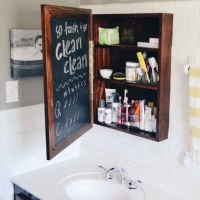 Add this chalkboard label to your medicine cabinet to keep track of daily doses.