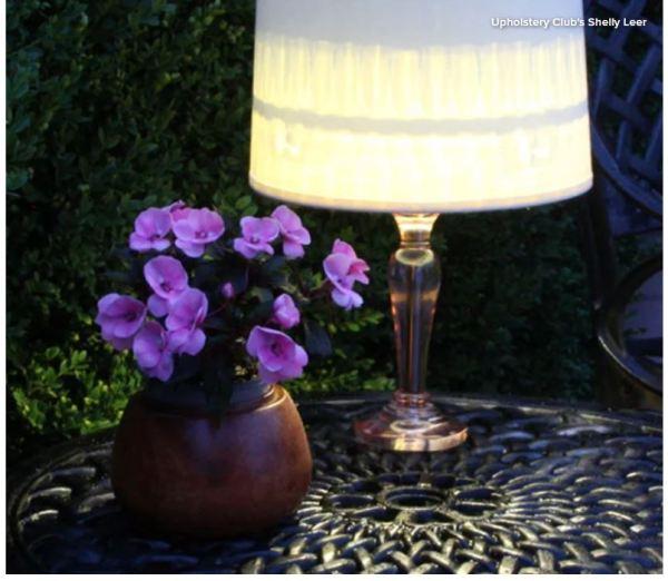 DIY solar lamp for patio.