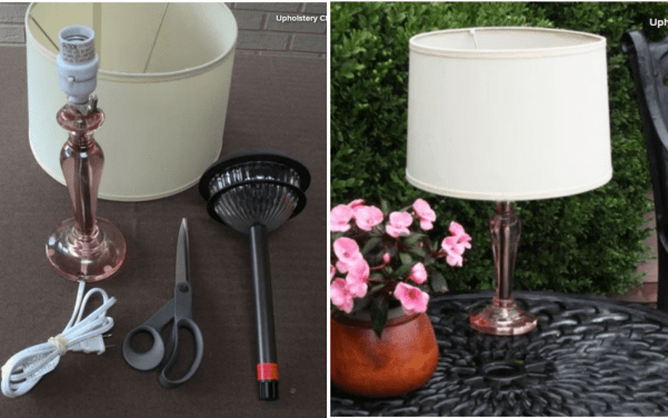Make a solar lamp for your patio.