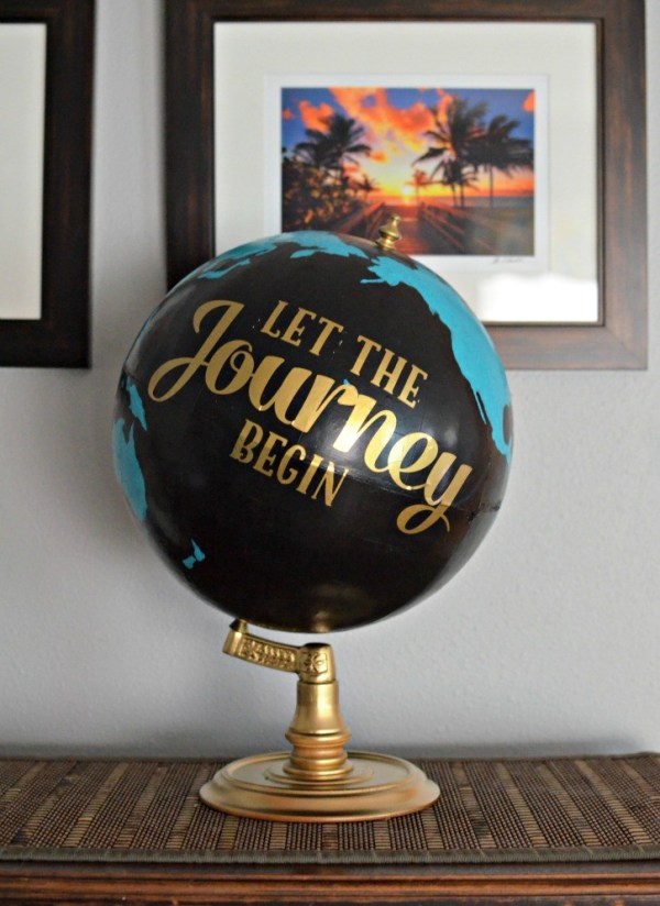 upcycled globe - 10 Simple Thrift Store Makeover Ideas You'll Want to Steal