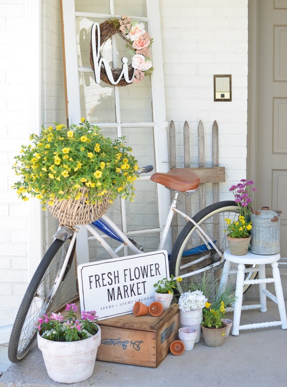bike porch decor - 7 Cheap and Easy DIY Porch Decor Ideas for Summer
