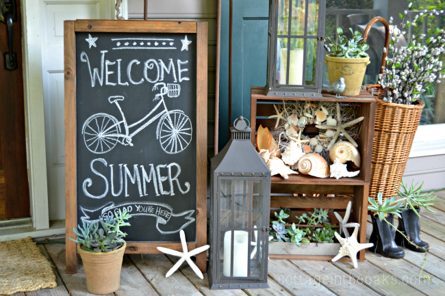 welcome sign summer porch decor - 7 Cheap and Easy DIY Porch Decor Ideas for Summer