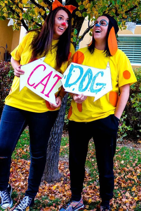 cat dog couples costume - 50 Best Couples Halloween Costume Ideas for 2019